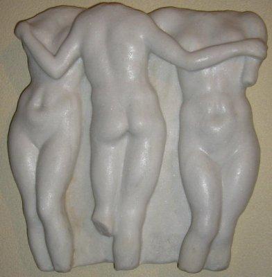 Wandskulptur Ménage-à-trois