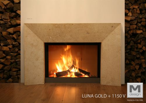 Monastir Fireplace Suite with M-design Diamond Gas 1150V  - EEK: C (Spektrum: A++ bis G)
