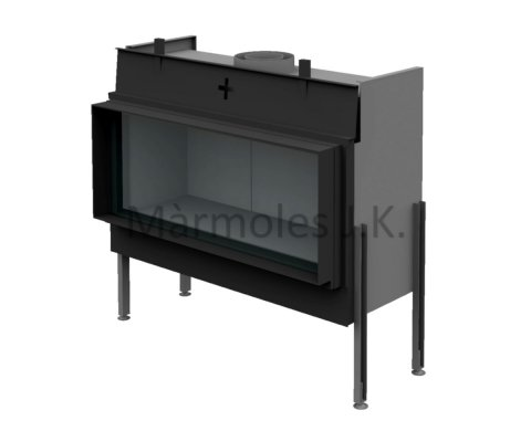 Gas fireplace from Brunner Architektur 40/100