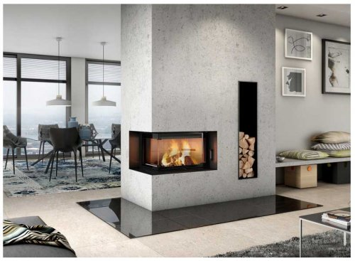 Brula Masonry Heater Typ D-Plus 2 sided