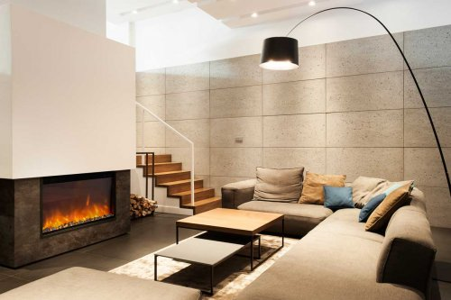 Electric In Wall Fireplace TRIVERO 90
