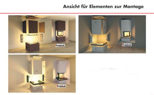 Hajduk Fireplace Set PURE with Smart 3PLh