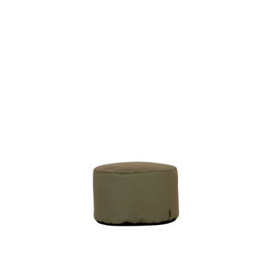Outdoor Hocker Lipari round taupe von Moonich