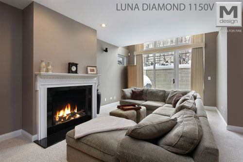 Gas-Fireplace Suite LUNA  - EEK: A+ (Spektrum: A++ bis G)