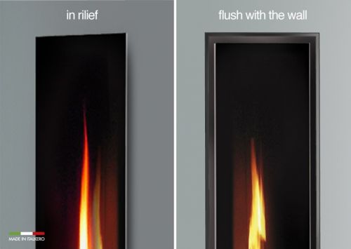 Italkero Gas Fireplace MIRROR FLAME