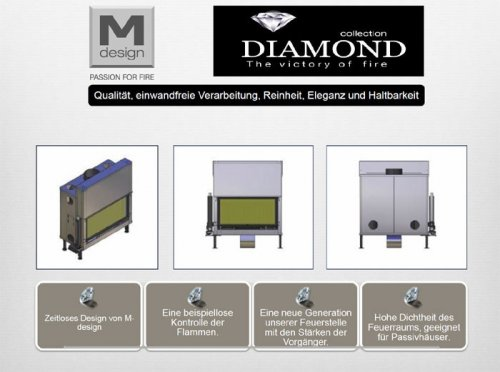 M-design Diamond Gaskamin