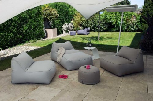 Moonich-Lounge Outdoor Hocker LIPARI Round