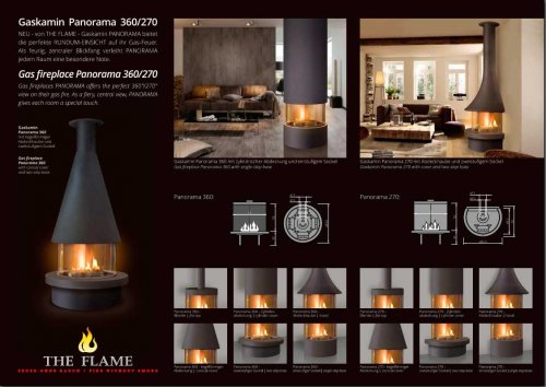 gas fireplace Panorama with options