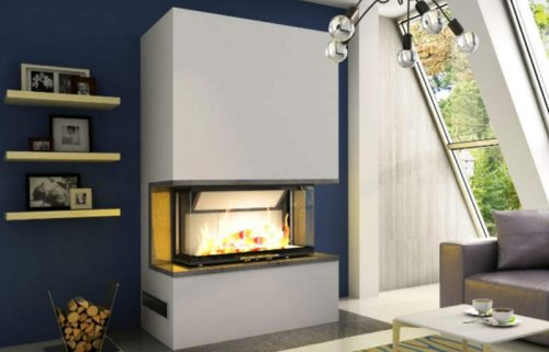 Hajduk Fireplace Set PURE EXTRA with Volcano 3BTh