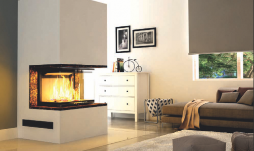 Hajduk Fireplace Set PURE EXTRA with Volcano 3PLh  - EEK: A+ (Spektrum: A++ bis G)