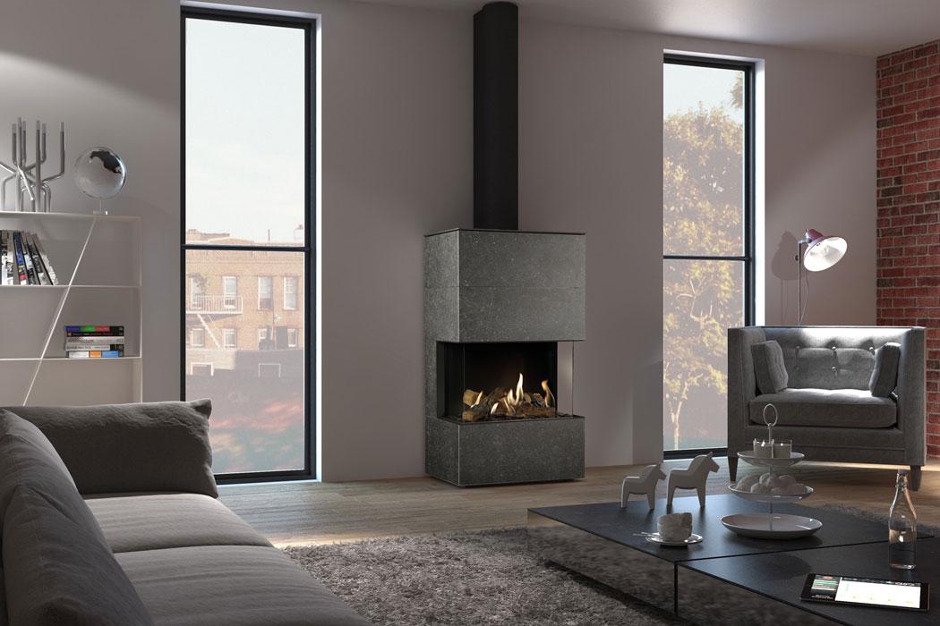 dru lugo 70 3 3 seitig gaskamin. Black Bedroom Furniture Sets. Home Design Ideas