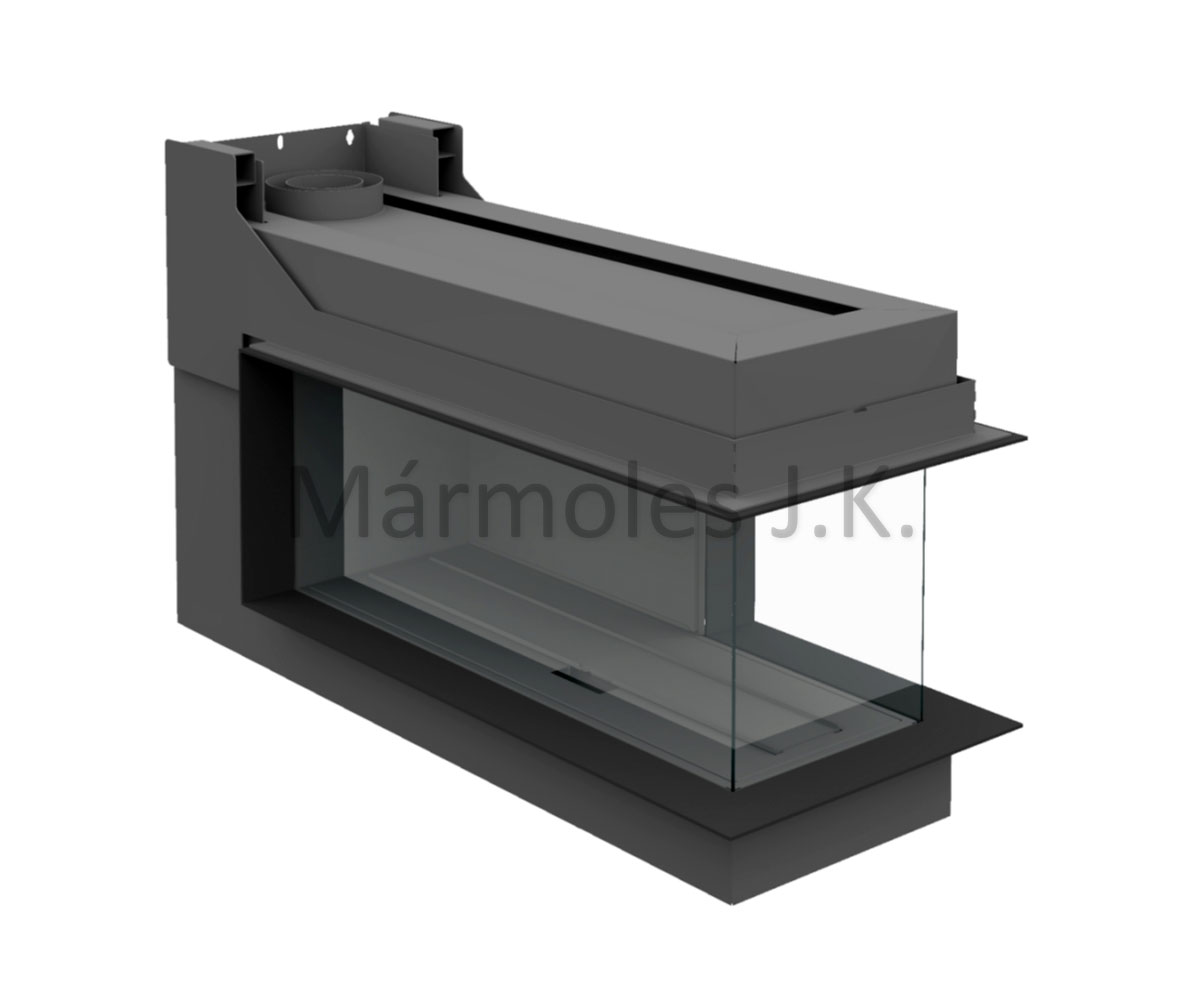 Gas Fireplace Insert From Brunner Panoramic Gas Fireplace 43 105 38 45