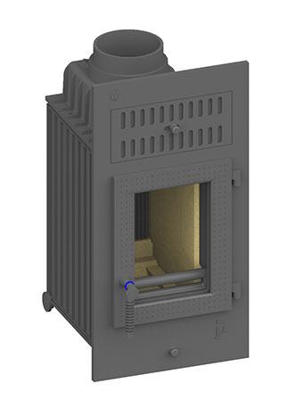 kamineinsatz schmid sh 8 g f r ihren kachelofen. Black Bedroom Furniture Sets. Home Design Ideas