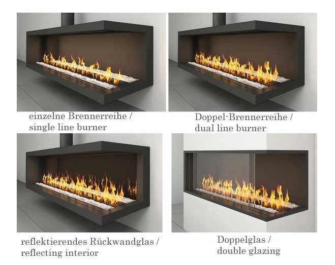 Ortal Space Creator 120 Midi Gas fireplace