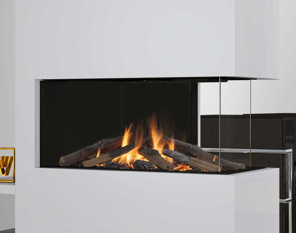 Gaskamin wanders danta 800 3 seitig abc for Open sided fireplace