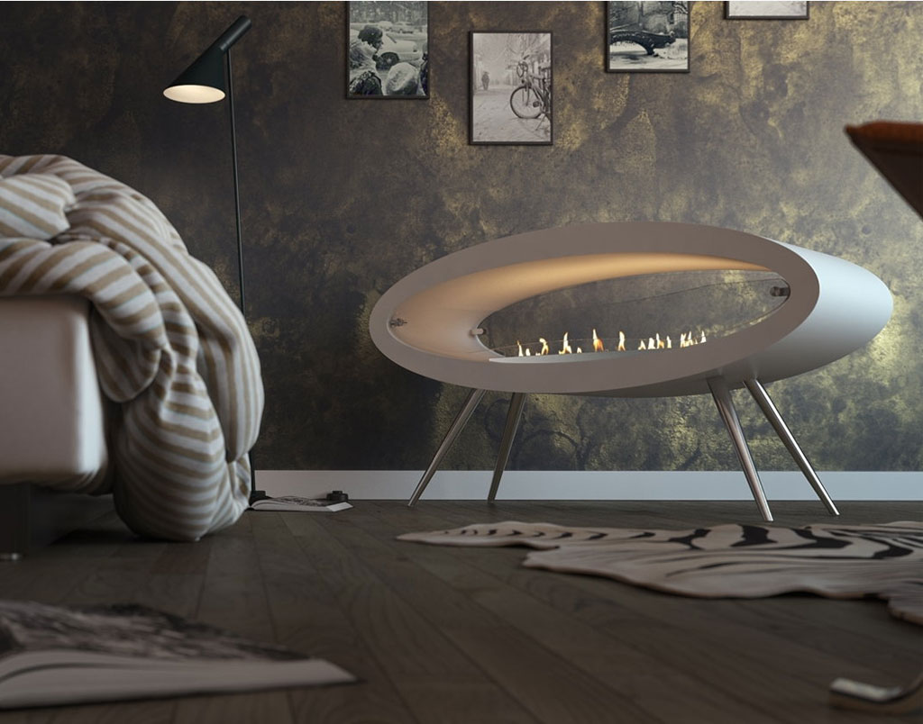 Decoflame Ellipse Flueless Fire: Decoflame ELLIPSE FLOOR