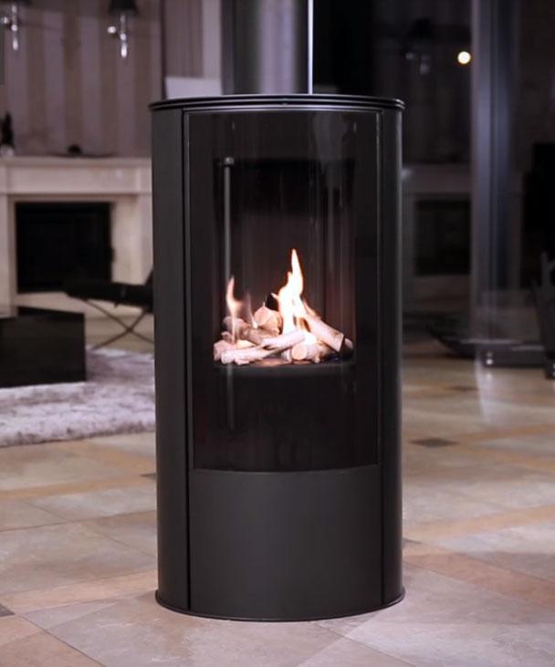 gaskaminofen koza ab gas von kratki. Black Bedroom Furniture Sets. Home Design Ideas