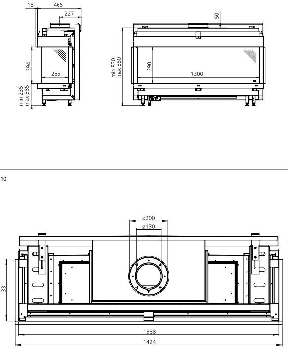 marmorkamin shop dru gaskamin 3 seitig metro 130xt 3. Black Bedroom Furniture Sets. Home Design Ideas