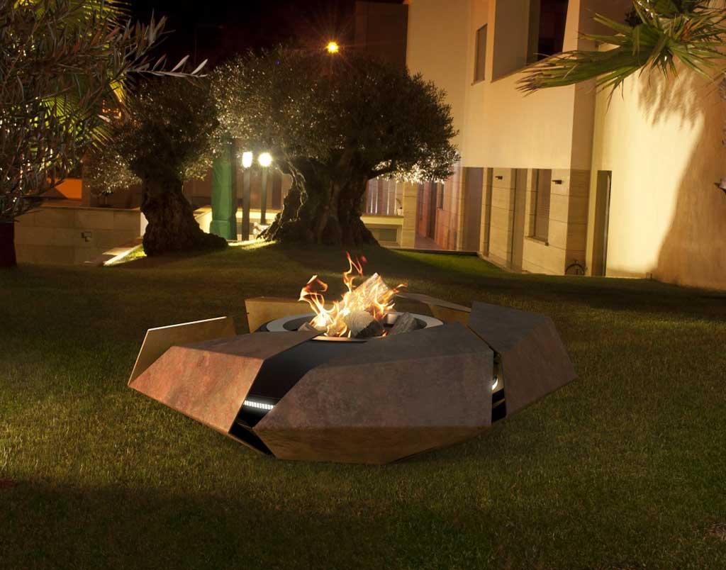 glammfire feuerstelle stravaganza bioethanol. Black Bedroom Furniture Sets. Home Design Ideas