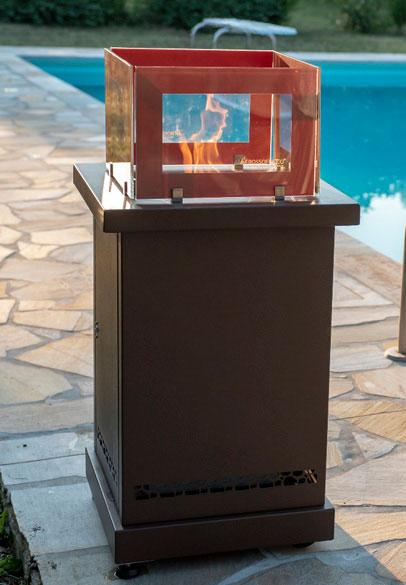 Outdoor wood pellet patio heater Diamante from Rossofuoco