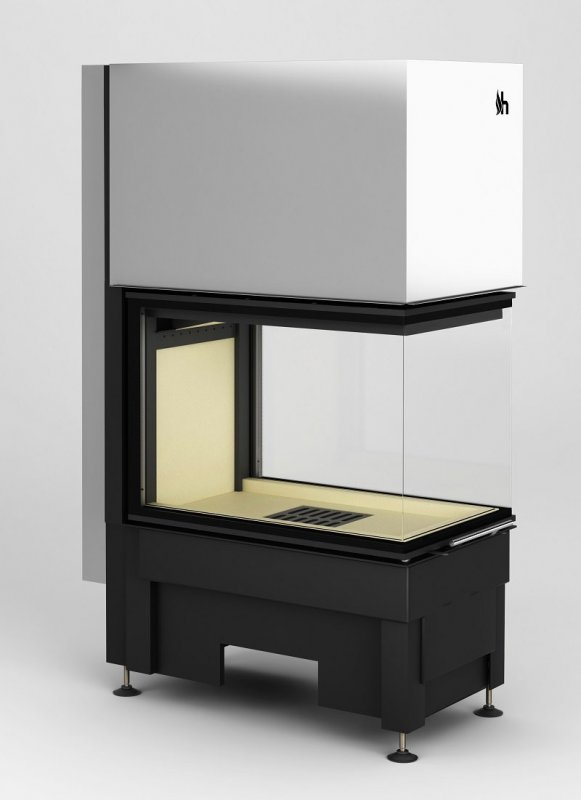hajduk kamineinsatz volcano 3pluh 3 seitig einsehbar. Black Bedroom Furniture Sets. Home Design Ideas