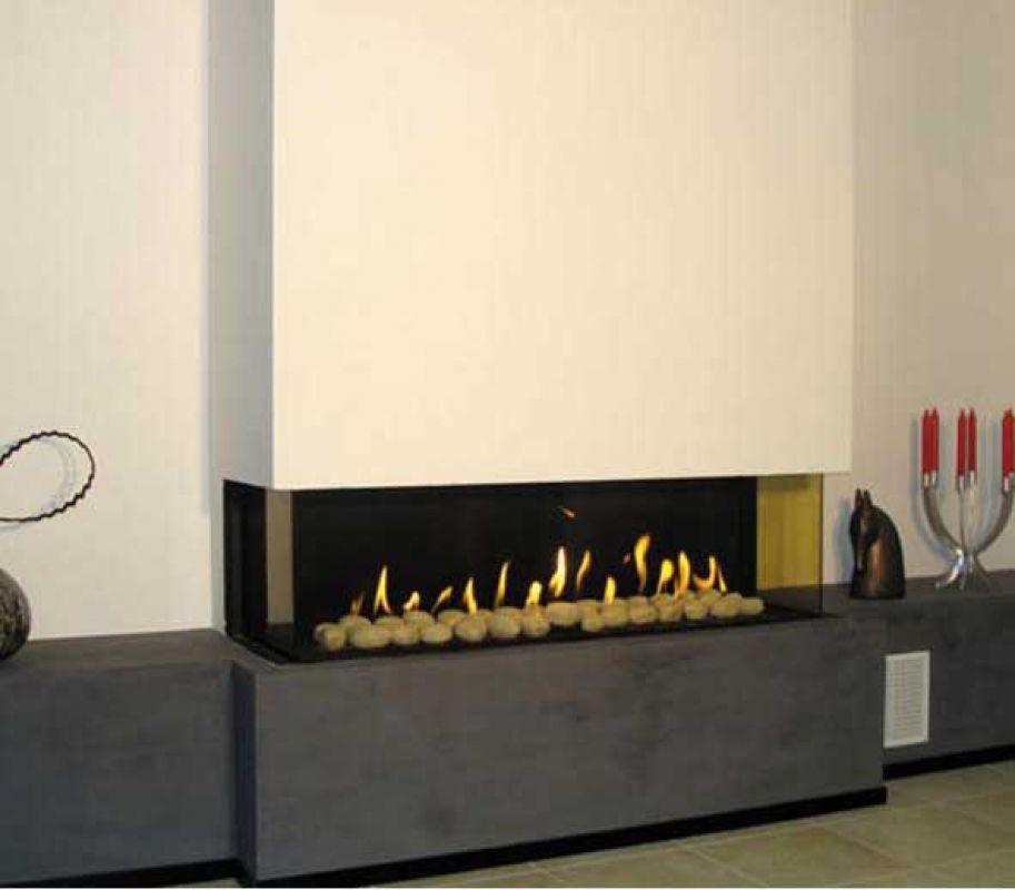 Marmorkamin-Shop - Ortal Clear 110 TS Gas fire 3 sided