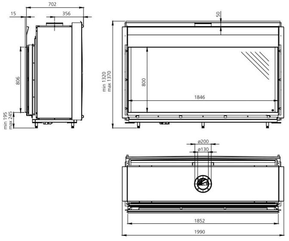 dru cosmo gaskamin. Black Bedroom Furniture Sets. Home Design Ideas
