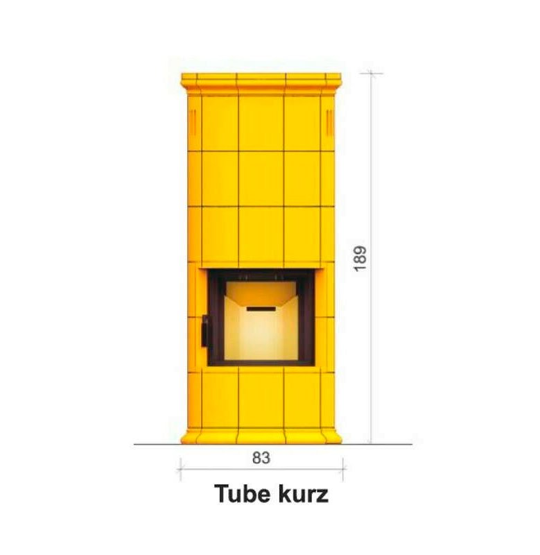 Hajduk fireplace set Tube kurz