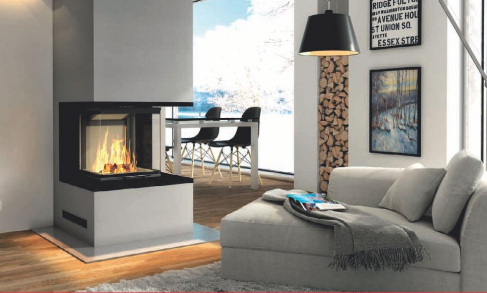Hajduk fireplace set Pure Smart 3PLh