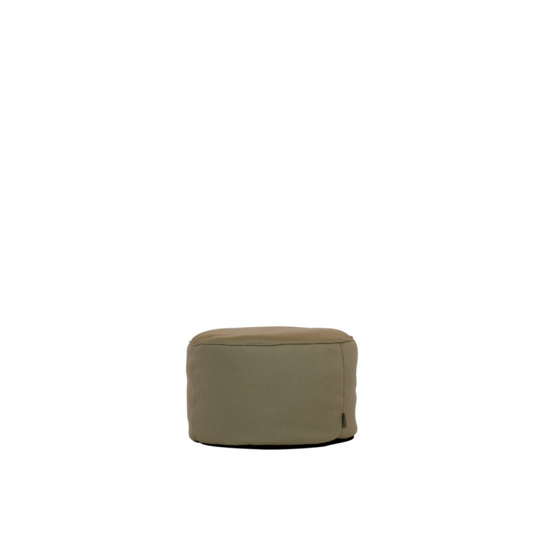 Outdoor Hocker Lipari round taupe-grau von Moonich