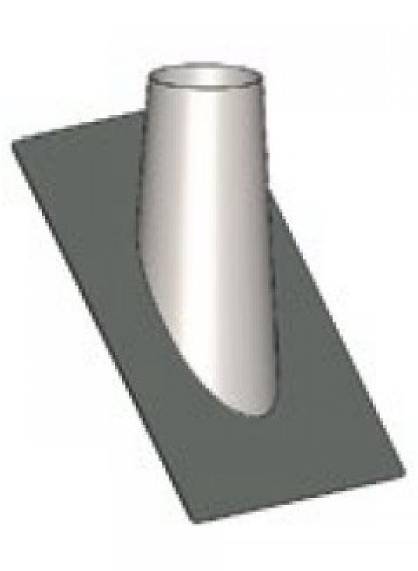 Flue Tube concentric skew roof lead through 50-60°