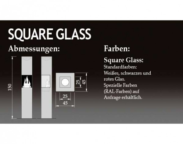 The Flame SQUARE GLASS
