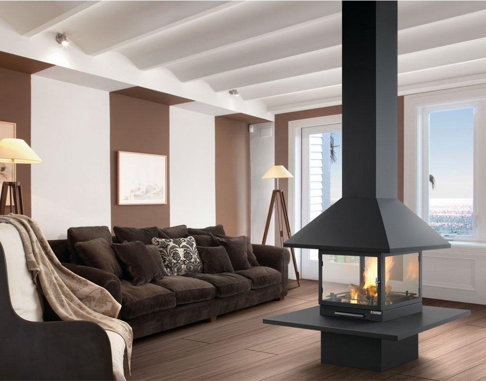 kaminofen vulcano central von traforart. Black Bedroom Furniture Sets. Home Design Ideas